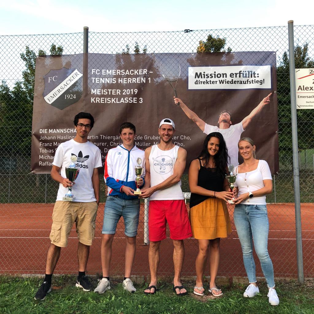 Saisonabschluss der Tennisabteilung – Dieter Cho Vereinsmeister bei den Herren